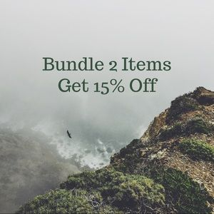 BUNDLE TWO ITEMS, get 15% OFF!